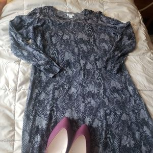 Faux Snake Skin Sweater Dress